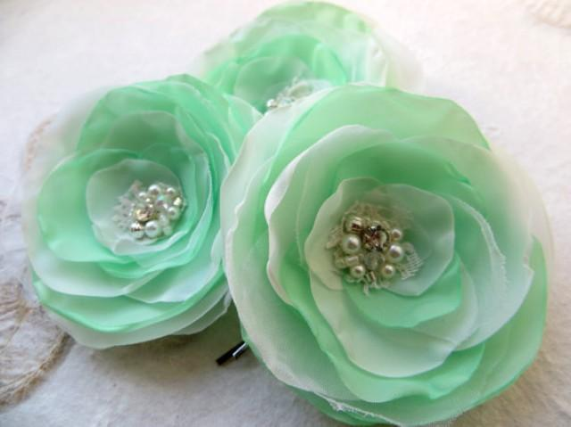 how to make flower hair clips for wedding