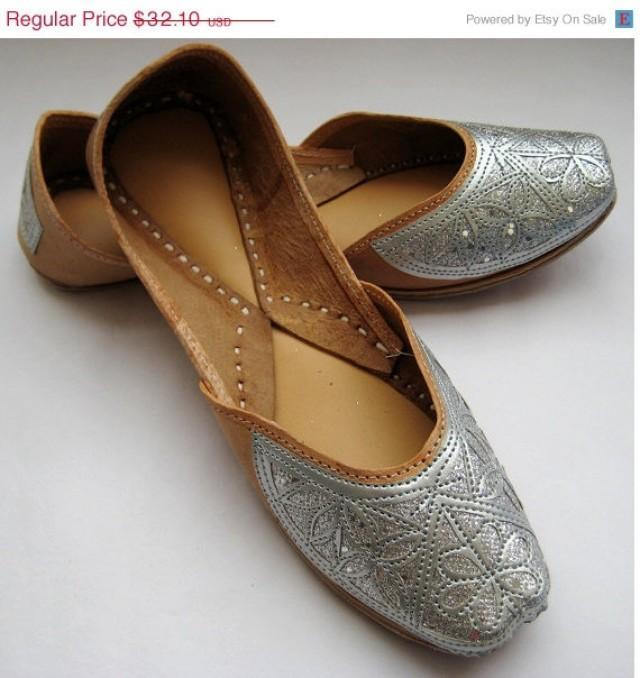 VALENTINE DAY SALE 20% Silver Sequin Bridal Ballet Flats