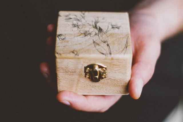 Ready To Ship Rustic Style Engagement Ring Box Be Mine Wedding