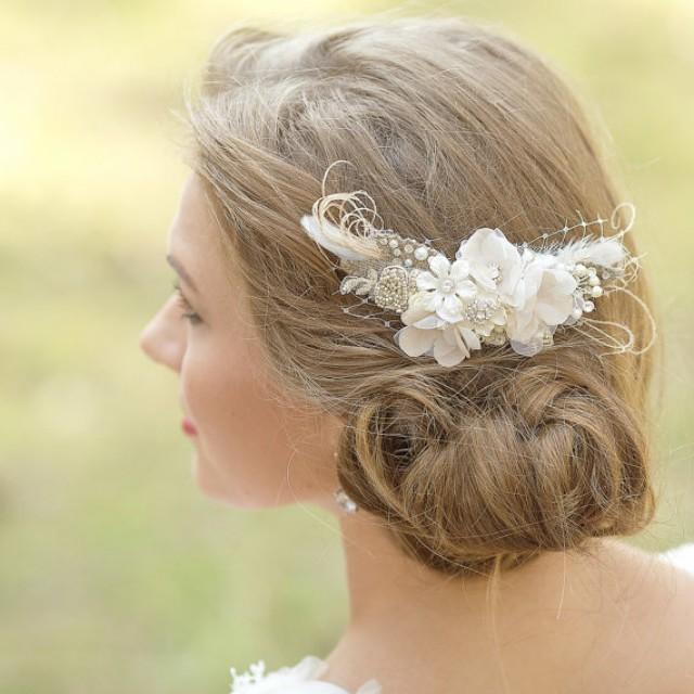 Country Wedding Hairstyles: Wedding Hair Piece Bridal Haircomb Rustic Wedding Hair
