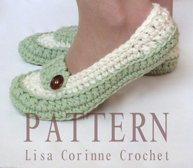 Crochet Wedding Gifts Patterns: Bridal Slippers Crochet PATTERN, Wedding Slippers Pattern