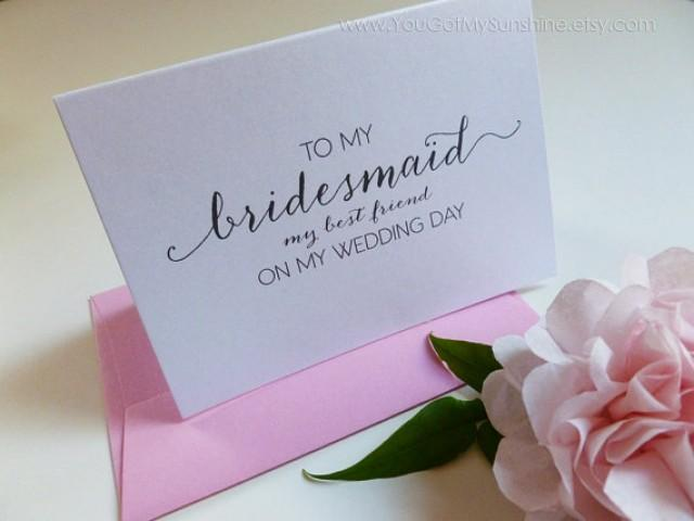 Wedding Gift For Friend Female: To My Bridesmaid My Best Friend Wedding Thank You Card