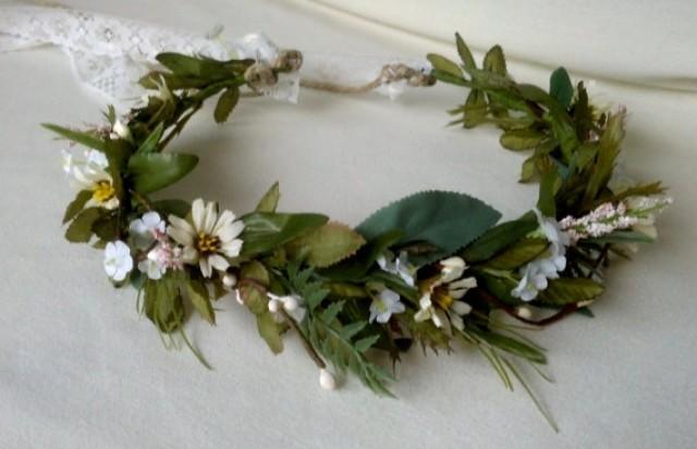 Ivy Vine Hair Wreath Renaissance Headdress Rustic Woodland