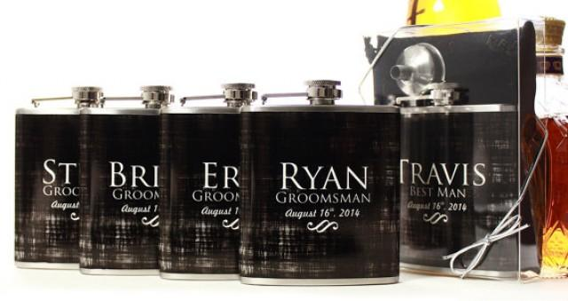 Wedding Party Gifts, Flasks For Groomsmen, Custom Gifts
