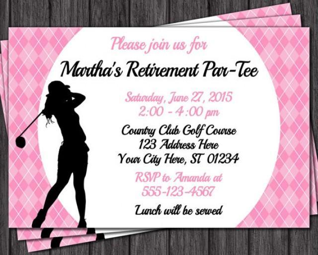 Golf Retirement Invitation Women S Retirement Party
