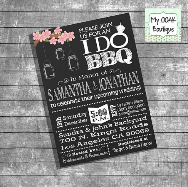 Couples Shower Invitation Engagement Party I Do BBQ Invitation – Engagement Party Invitation Etiquette
