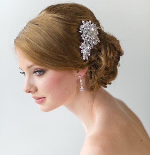 Crystal Haircomb Bridal Crystal Comb Large Crystal Brooch Wedding