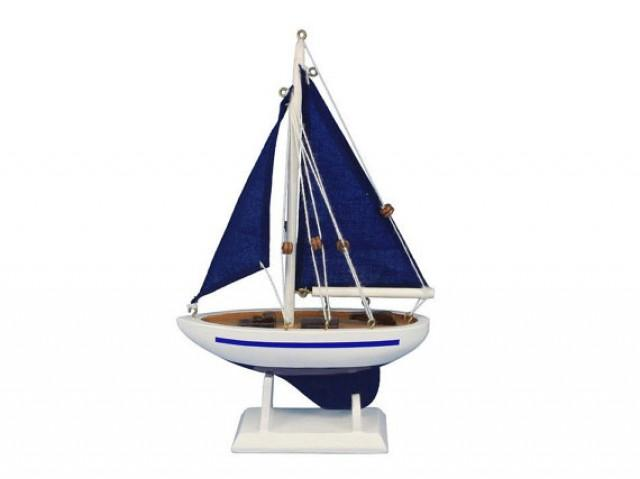 "Pacific Sailer Blue 9"" Sailboat Wedding Cake Topper / Sail ..."