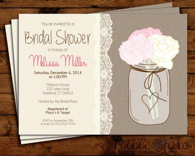 Bridal Shower Invitation Wedding Shower Invite Bridal