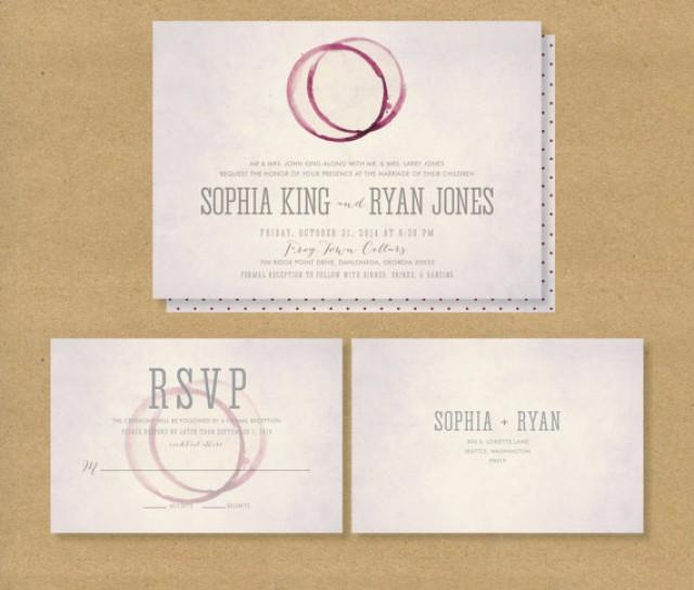 WINERY Wedding Invitation // Printable Invitation And RSVP