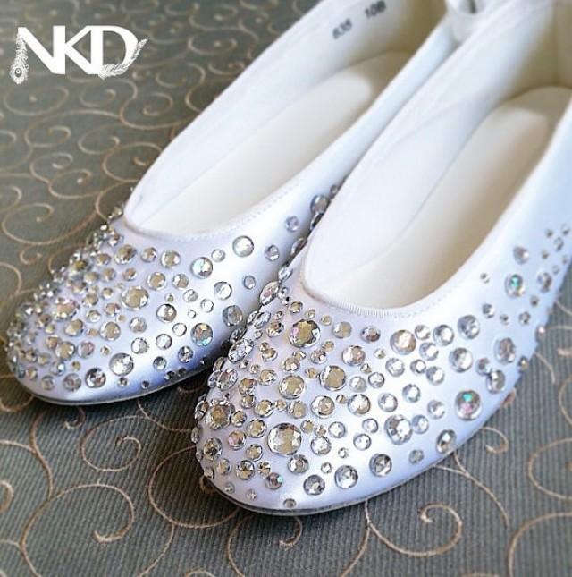 Rhinestone Ballerinas, Crystal Slipper Sparkle Shoes , NkD ...