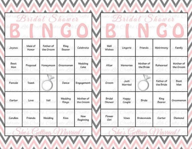 30 Bridal Shower Bingo Cards - DIY Printable Party Game Bridal ...