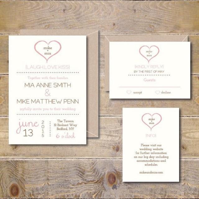 Printable Wedding Invitations . DIY Wedding Invitation . Invitations ...