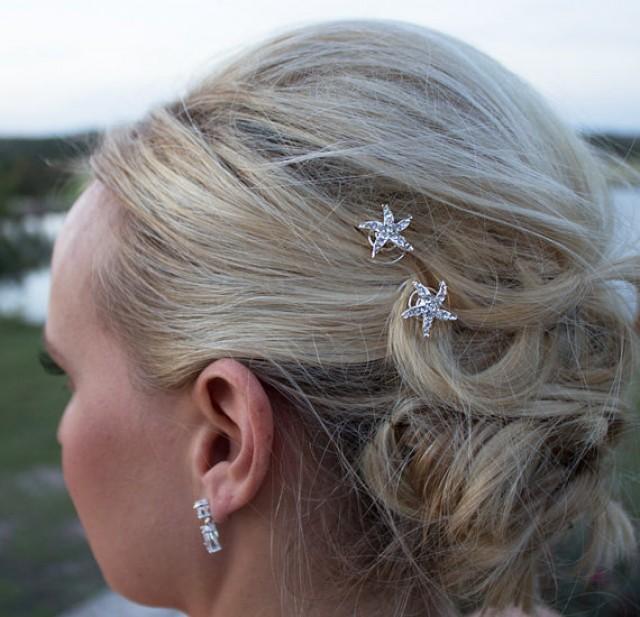 Rhinestone Starfish Wedding Hair Twist Ins Set Of 6 Accessories Clip Beach 2232891 Weddbook