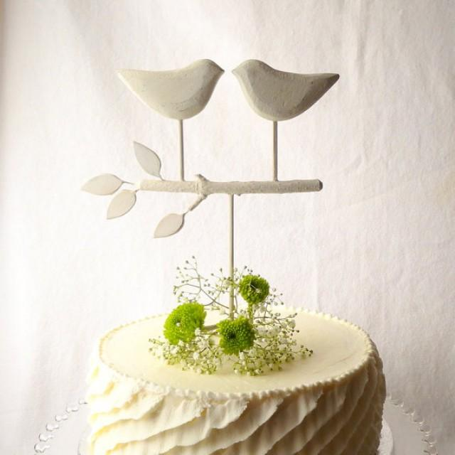 White Wedding Cake Topper Bird Cake Topper Love Birds