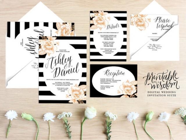 Stripes Wedding Printable Wedding Invitation 2234333 Weddbook