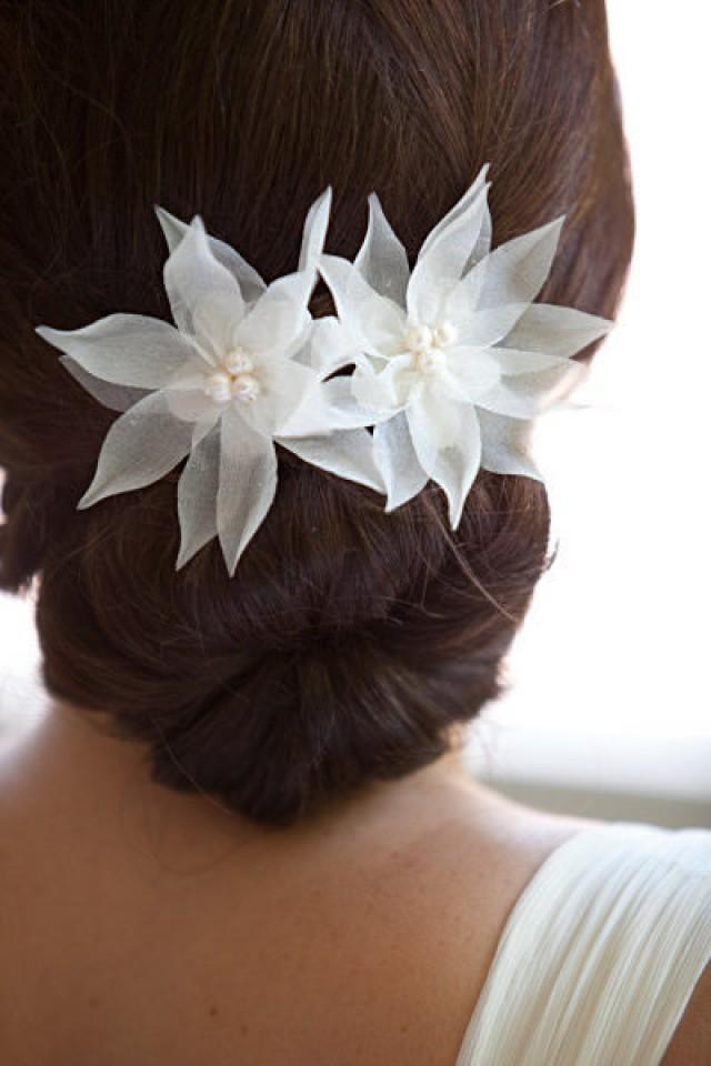 Bridal Silk Flower Hair Clips Flowers Healthy