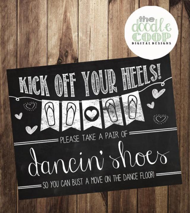 Kick Off Your Heels, Flip Flop Favors, Printable Wedding