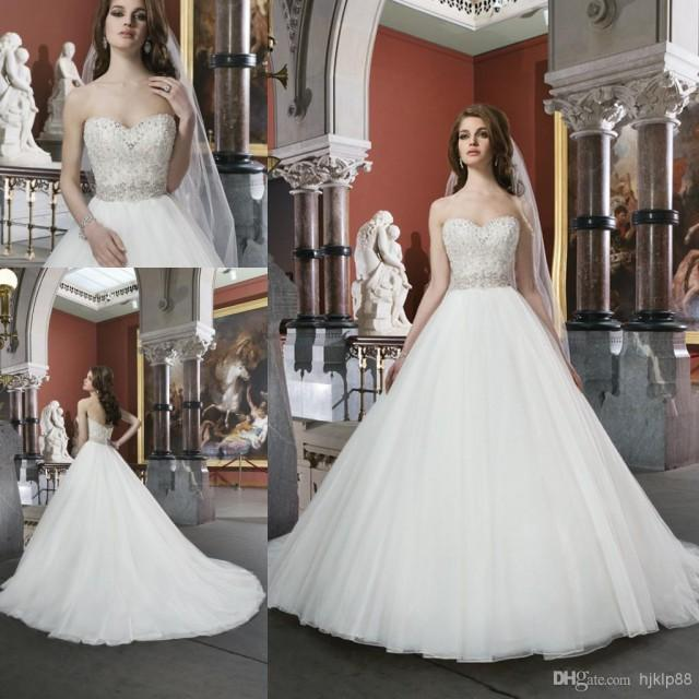 Latest Wedding Gowns 2014: 2014 New Collection Ball Gown Garden Wedding Dress Bridal