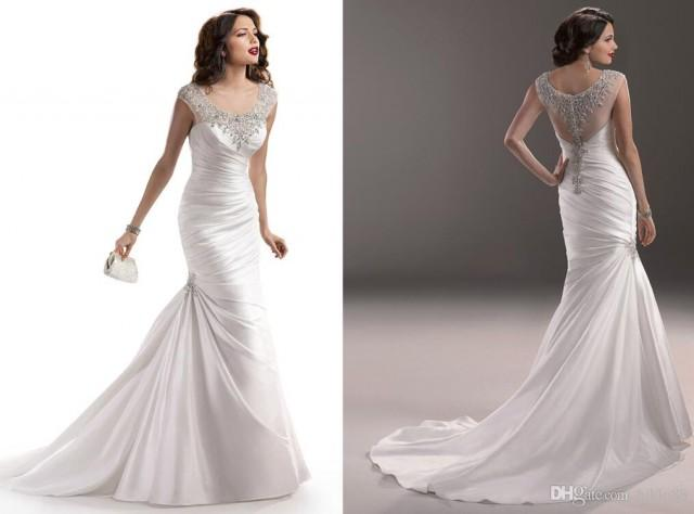 Backless Wedding Gowns: 2015 New Arrival Satin Mermaid Backless Wedding Dresses