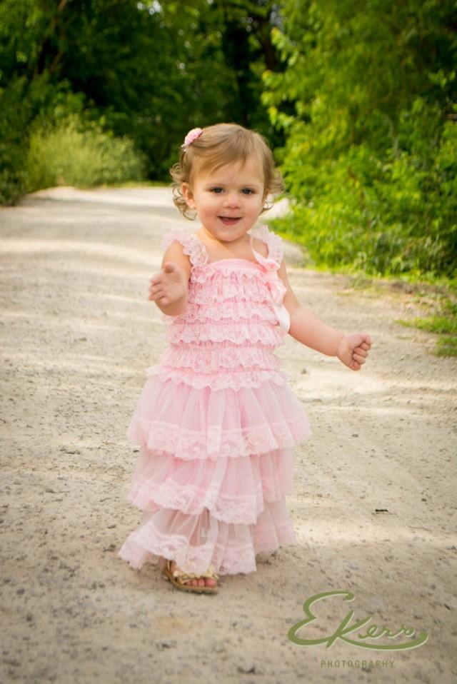 d985323dca SALE!!! Adorable Pink Lace Dress-Baby-Toddler-1st Birthday Dress-Photograpy  prop-Flower girl dress