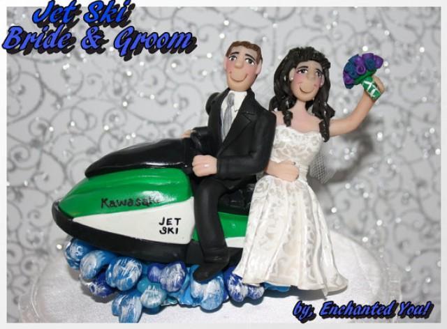 Wedding Cake Topper Bride Groom On Jet Ski 2236724
