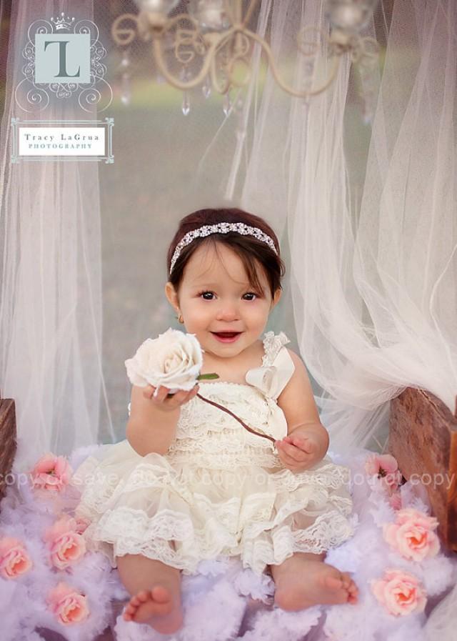 1st Birthday Dress Flower Girl Dresses Cream Flower Girl