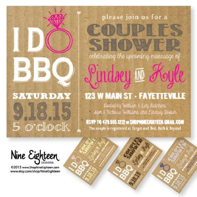 i do bbq couples shower barbeque bridal shower custom printable pdfjpg invitation i design you print made to match add ons available