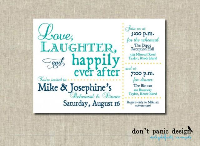 Happily Ever After Wedding Invitations: Printable Rehearsal Dinner Invitation