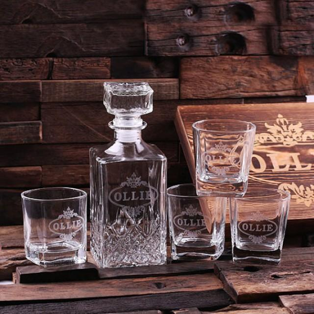 Vintage Wedding Car Keepsake In Gift Box In 2019: Personalized Engraved Etched Scotch Whiskey Decanter