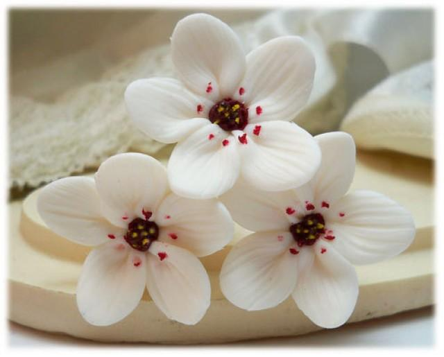 White cherry blossom hair pins set white sakura hair pins white white cherry blossom hair pins set white sakura hair pins white bridal hair accessories white japanese flowers wedding hair flowers 2239732 weddbook mightylinksfo