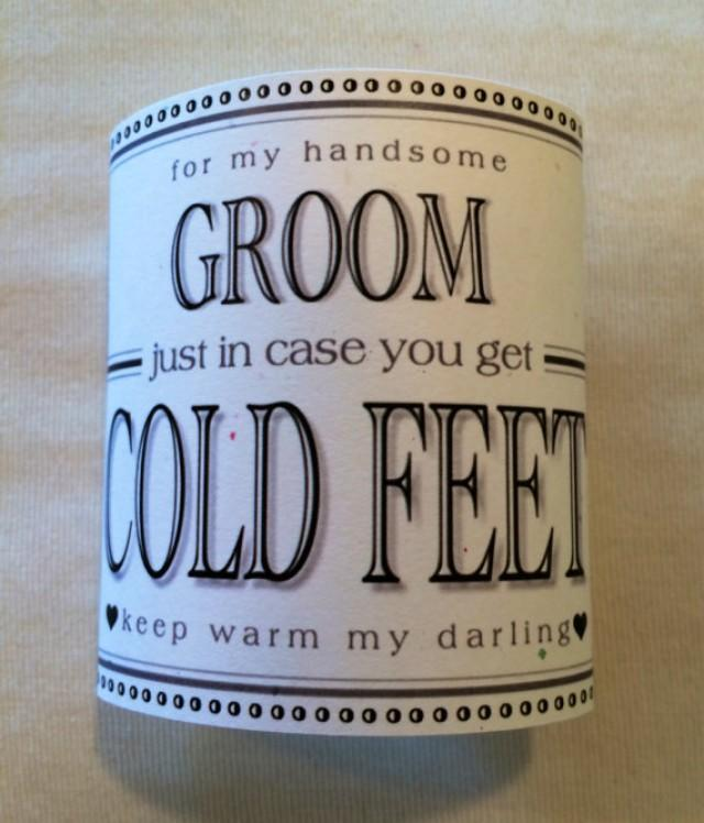 Groom Cold Feet Socks Label