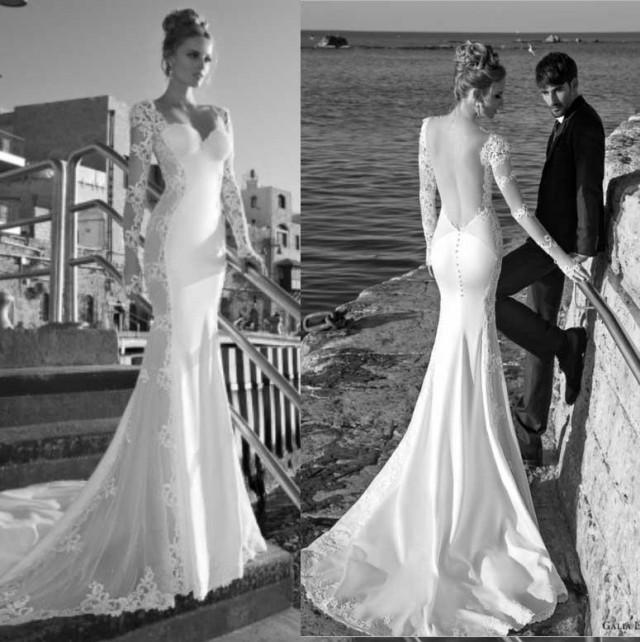 Backless Beach Wedding Dresses V Neck Flowing Vintage Boho: 2014 New Arrival Galia Lahav Beach Wedding Dresses V-Neck