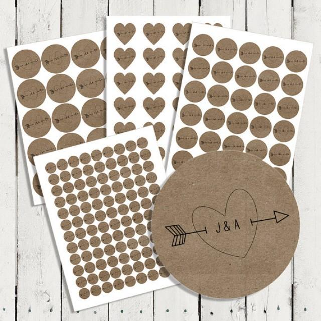 Personalized Wedding Brown Kraft Stickers Seals For Invitations Showers Favors Envelope Address Labels And More L001 2240345