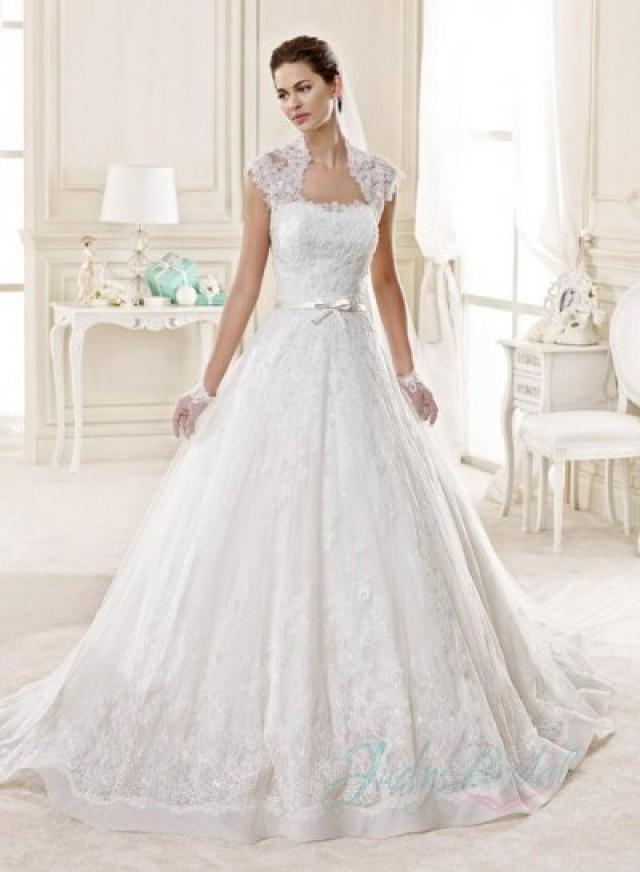Jw15131 chic lace bolero strapless princess ball gown for Strapless princess ball gown wedding dresses