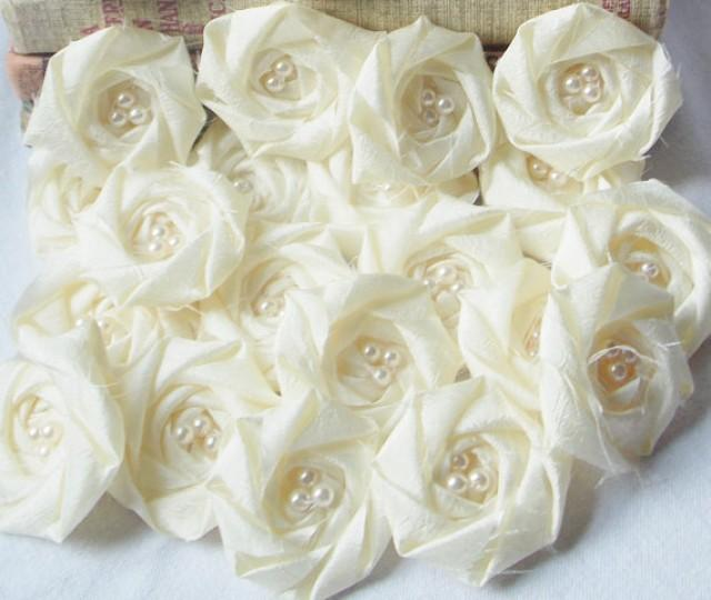 Making Fabric Flowers Wedding: Bridal Flower Applique Wholesale Fabric Flower Rolled