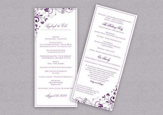 DiY Wedding Program - DOWNLOAD Instantly - EDITABLE TEXT - Chic ...