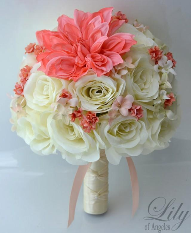 Making Silk Flower Bridal Bouquets: 17 Piece Package Wedding Bridal Bride Maid Of Honor