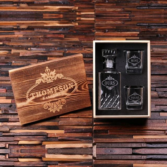 Man Cave Gifts For Christmas : Personalized engraved etched scotch whiskey decanter