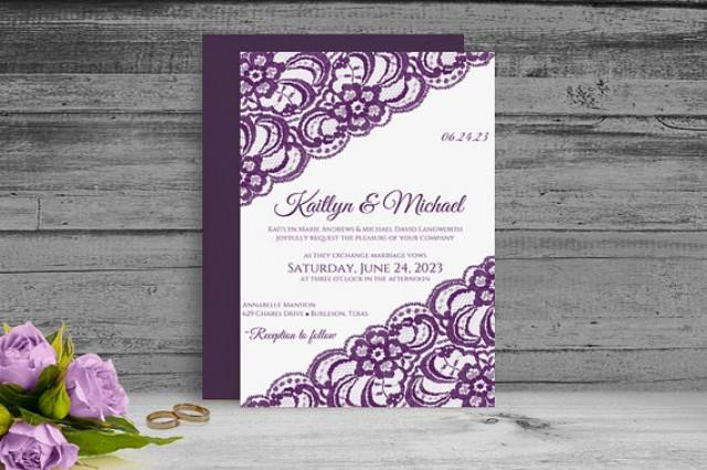 Wedding Invitations Fonts In Microsoft Word: DiY Printable Wedding Invitation Template