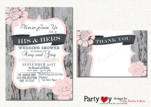 Couples Wedding Shower Invitation Couples Shower Invitation His – Couples Shower Wedding Invitations