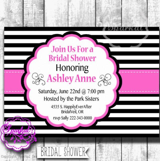 Bridal shower party invitation paris themed printable digital bridal shower party invitation paris themed printable digital wedding shower invitation pink black wedding shower add a water bottle label 2243018 filmwisefo