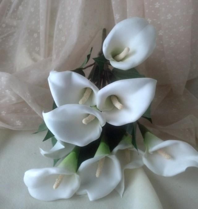 Silk flower stems diy bridal craft supplies accessories white calla silk flower stems diy bridal craft supplies accessories white calla lilies wedding bouquet supply set of 6 high quality crafts centerpieces 2243447 mightylinksfo