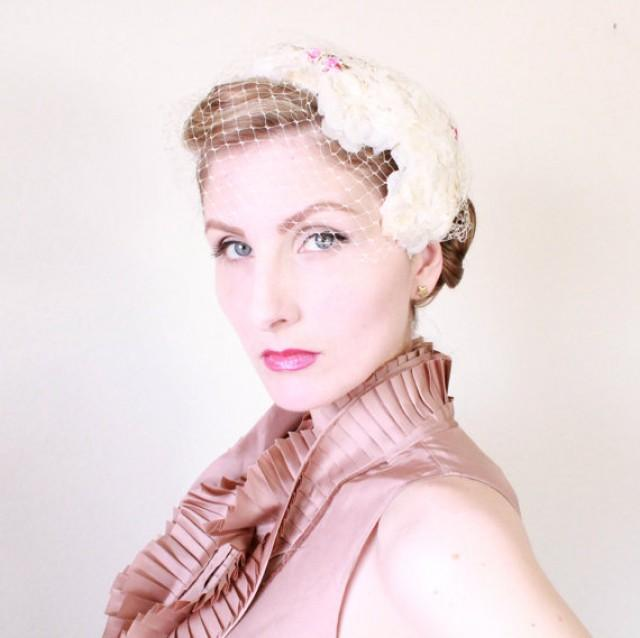 1950s Fascinator / VINTAGE / 50s / Hat / Bridal / Wedding