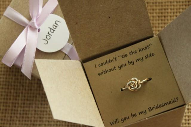 tie the knot ring will you be my bridesmaid gift of honor