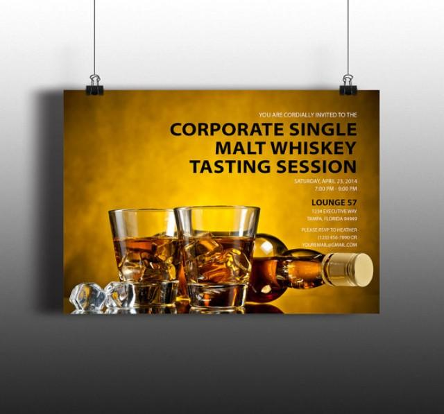 Instant Download Bourbon Whiskey Tasting Corporate