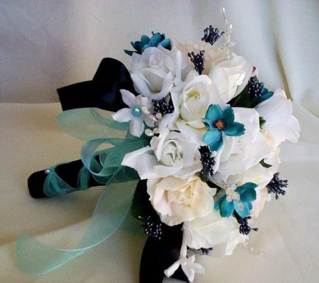 Blue And Black Wedding Ideas: Wedding Accessories Turquoise Wedding Flowers Package