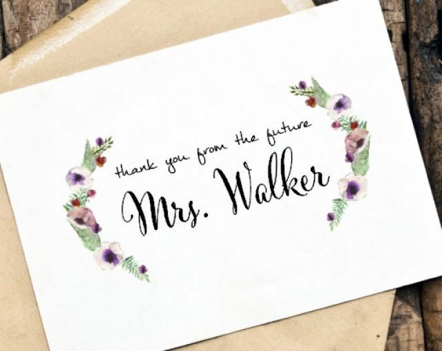 Thank You From The Future Mrs Or Custom Card Set Personalized Wedding Note Engagement Party Bridal Shower