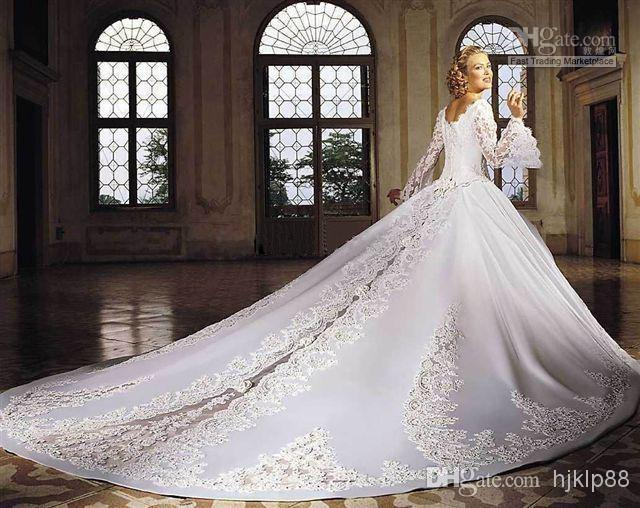 Ivory Off The Shoulder Ball Gown Wedding Dresses With Lace Long ...