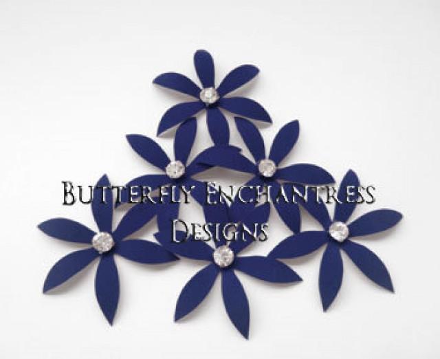 Bridal Hair Accessories Nautical Beach Wedding Piece Something Blue Flowers 6 Navy Harlow Spider Orchid Flower Pins 2245008